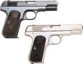 Handguns:Semiautomatic Pistol, Lot of Two Colt Model 1903 Pocket Hammerless Semi-AutomaticPistols.... (Total: 2 Items)