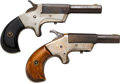 Handguns:Derringer, Palm, Lot of Two Single Shot Deringers.... (Total: 2 Items)
