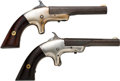 Handguns:Derringer, Palm, Lot of Two Single Shot Pocket Pistols.... (Total: 2 Items)