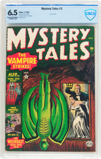 Mystery Tales #3 (Atlas, 1952) CBCS FN+ 6.5 Cream to off-white pages