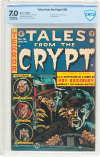 Tales From the Crypt #36 (EC, 1953) CBCS FN/VF 7.0 Off-white pages
