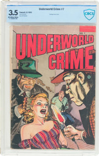 Underworld Crime #7 (Fawcett Publications, 1953) CBCS VG- 3.5 Off-white to white pages
