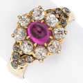 Estate Jewelry:Rings, Victorian Pink Sapphire, Gold Ring . ...