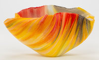 Toots Zynsky (American, b. 1951) Glass Bowl, 21st century Applied Z Ht. 5-3/8 x 10-1/