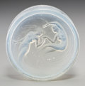 Art Glass:Lalique, R. Lalique Opalescent Glass Deux Sirenes Box Cover forD'Orsay. Circa 1920. Molded R. LALIQUE. M p. 968, No. D...