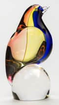 Art Glass:Other , Archimede Seguso (Italian, 1909-1999). Glass Carnevale Bird,20th century. Engraved Archimede Seguso, Murano. Ht. 9-...