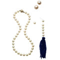 Estate Jewelry:Lots, Cultured Pearl, Mabe Pearl, Diamond, Gold Jewelry. ... (Total: 2 Items)