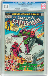The Amazing Spider-Man #122 (Marvel, 1973) CGC VF- 7.5 Off-white to white pages