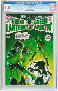 Green Lantern #76 (DC, 1970) CGC FN/VF 7.0 White pages