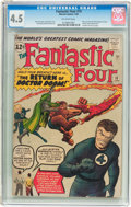 Silver Age (1956-1969):Superhero, Fantastic Four #10 (Marvel, 1963) CGC VG+ 4.5 Off-white pages....