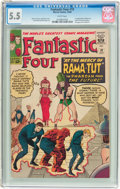 Silver Age (1956-1969):Superhero, Fantastic Four #19 (Marvel, 1963) CGC FN- 5.5 White pages....