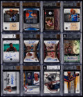 Basketball Cards:Lots, 2002-2010 Basketball Autograph & Relic BGS Graded Collection(12)....
