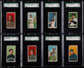 Baseball Cards:Lots, 1909-11 T206 Piedmont/Sweet Caporal SGC Graded Collection (8). ...