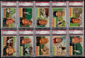Baseball Cards:Lots, 1956 Topps Baseball PSA NM 7 Graded Collection (10)....
