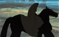 Animation Art:Production Cel, Lord of the Rings Dark Rider Production Cel (Ralph Bakshi,1978).. ...