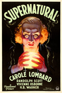 "Supernatural (Paramount, 1933). One Sheet (27.5"" X 41"")"