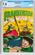 Golden Age (1938-1955):Horror, Frankenstein Comics #26 (Prize, 1953) CGC FN/VF 7.0 Off-white towhite pages....