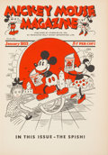 Memorabilia:Disney, Mickey Mouse Magazine Giveaway V1#1 Bound Volume (Walt DisneyProductions, January 1933)....