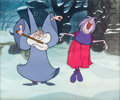 Animation Art:Production Cel, Sword and the Stone Merlin and Madam Mim Production Cel(Walt Disney, 1963). ...