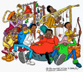 Animation Art:Color Model, Fat Albert and the Cosby Kids Junkyard Band Publicity Cel (Filmation, 1980). ...