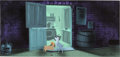 Animation Art:Concept Art, Eyvind Earle Lady and the Tramp Concept Art/Background Color Key (Walt Disney, 1955)....