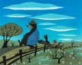Animation Art:Concept Art, Mary Blair Song of the South Br'er Bear and Br'er Fox Concept Art (Walt Disney, 1946)....