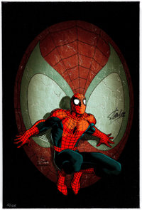 John Romita Sr., John Romita Jr., and José Villarrubia Spider-Man in the Spotlight Stan Lee Signed Limited Editio...