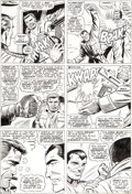 Original Comic Art:Panel Pages, Dick Ayers and John Tartaglione Sgt. Fury #39 Story Page 13Original Art (Marvel, 1967)....