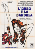 "Movie Posters:Foreign, The Bear and the Doll (Paramount, 1970). Italian 4 - Fogli (55"" X78""). Foreign.. ..."