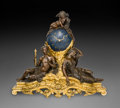 Timepieces:Clocks, A Monumental French Beaux Arts Patinated and Gilt Bronze FiguralMantle Clock, circa 1870. Marks to mechanism: RAINGO FRER...