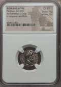 Ancients:Roman Imperial, Ancients: Pertinax (AD 193). AR denarius (3.30 gm). NGC Choice VF 4/5 - 5/5....