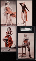 "Non-Sport Cards:Sets, 1950's Exhibits ""Hollywood Dancers"" Complete Set (16) -Uncirculated. ..."