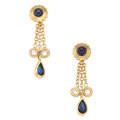 Estate Jewelry:Earrings, Diamond, Sapphire, Gold Earrings, Cartier . ...
