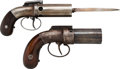 Handguns:Derringer, Palm, Lot of Two Bar Hammer Pepperbox Pistols.... (Total: 2 Items)