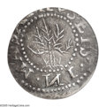 1652 6PENCE Oak Tree Sixpence AU53 PCGS. Noe-20, Crosby 1a-D, R.6. 34.4 grains. A lavender-gray example that possesses s...
