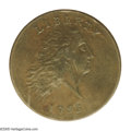 1793 Chain 1C AMERICA AU58 PCGS. S-3, Low R.3. Die State I, without clash marks near profile. A glossy and exquisitely d...