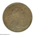 1796 1C Draped Bust, Reverse of 1797 MS63 Brown PCGS. S-119, R.3. Die State III, rim break above AT in STATES. An impres...
