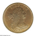 1797 1C Reverse of 1797, Stems MS64 Red and Brown PCGS. S-135, High R.3. Noticeable original orange-gold color illuminat...