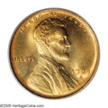 Lincoln Cents: , 1909-S VDB 1C MS67 Red PCGS. A gorgeous Superb Gem of this famousand coveted series key. Beautiful orange color dominates ...