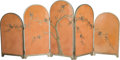 Other, Art Deco Chinoiserie Painted Wood Folding Screen, 20th century. Ht. 47-3/8 x 106-3/4 x 1-1/4 in.. PROPERTY FROM THE ESTATE...