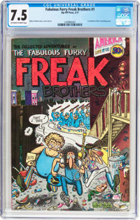 The Fabulous Furry Freak Brothers #1 (Rip Off Press, 1971) CGC VF- 7.5 Off-white to white pages