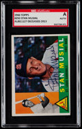 Autographs:Sports Cards, Signed 1960 Topps Stan Musial #250 SGC Authentic....
