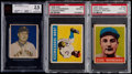 Baseball Cards:Lots, 1948-49 Bowman and Leaf Baseball Graded Trio (3)....