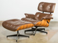 Furniture , Charles Eames (American, 1907-1978) and Ray Kaiser Eames (American, 1912-1988). 670 Armchair and 671 Ottoman, design... (Total: 2 Items)
