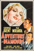 """Movie Posters:Crime, Adventure in Diamonds (Paramount, 1940). One Sheet (27"""" X 41"""").Crime.. ..."""