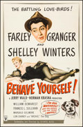 "Movie Posters:Comedy, Behave Yourself (RKO, 1951). One Sheet (27"" X 41""). Comedy.. ..."