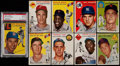 Baseball Cards:Lots, 1954 Topps Baseball Collection (9) With Mays and Williams....