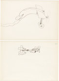 Animation Art:Production Drawing, Plane Crazy Mickey Mouse and Minnie Mouse Animation DrawingGroup of 2 with Limited Edition Cel (Walt Disney, 1928-29/...(Total: 2 Items)