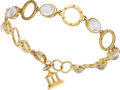 Estate Jewelry:Bracelets, Moonstone, Diamond, Gold Bracelet, Temple St. Clair. ...
