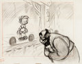 Animation Art:Concept Art, Pinocchio Stromboli and Pinocchio Layout Drawing (WaltDisney, 1940)....
